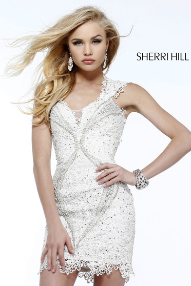 Sherri Hill 9803 White Dress