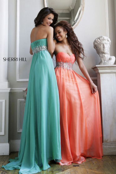 Sherri Hill 3909 Orange Dress