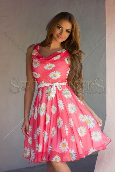 LaDonna Flowers Miracle Coral Dress