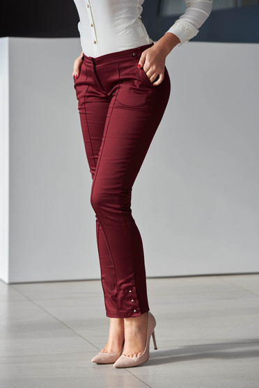 Fofy Labour Style Burgundy Trousers