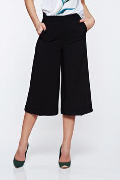 Top Secret black trousers 3/4 with medium waist and pockets