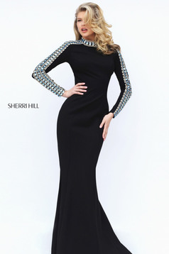 Sherri Hill 50611 Black Dress
