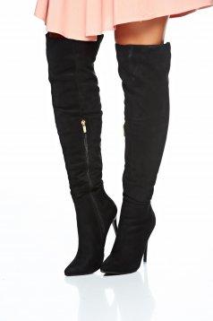 Stylish Attitude Black Boots