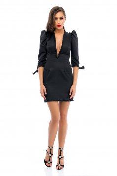 Ana Radu black dress evening dresses with deep cleavage
