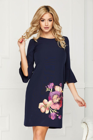 StarShinerS darkblue embroidered dress
