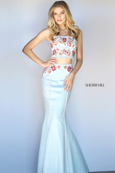 Sherri Hill 51060 LightBlue Dress