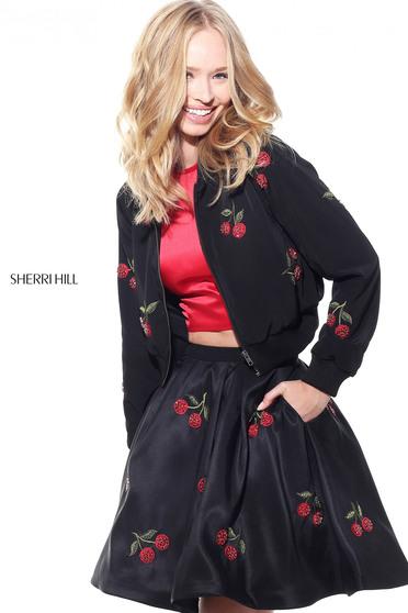 Sherri Hill J51175 Black Jacket