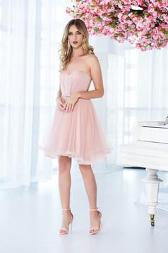 Ana Radu rosa occasional corset dress with push-up cups