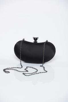 Black occasional bag with detachable chain