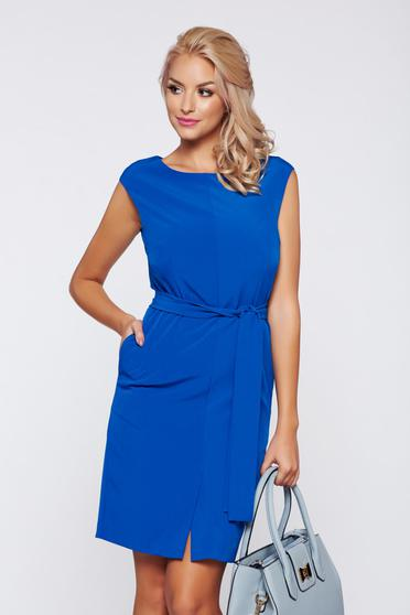 Top Secret blue office sleeveless dress with inside lining