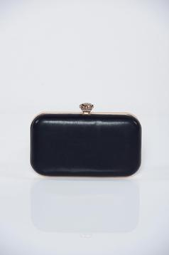 Occasional black bag with metalic accessory