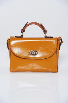 Brown office bag with long adjustable handle