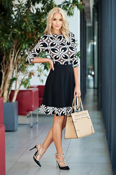 StarShinerS cloche brown office dress with geometrical print