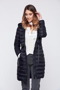 Top Secret midi black casual slicker jacket