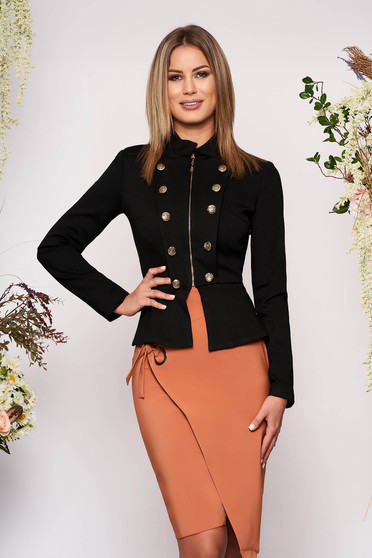 Jacket LaDonna black office inside lining button accessories