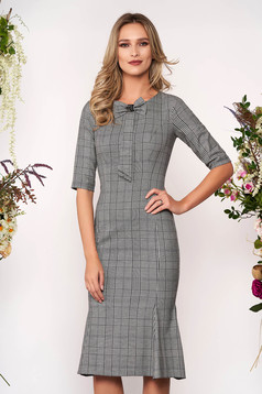 LaDonna grey office pencil dress from cloth