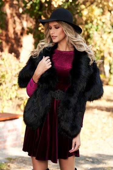 Black elegant fur with inside lining