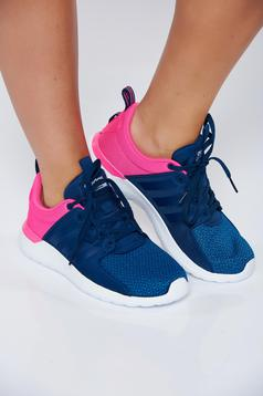 Adidas blue casual sneakers with lace with vertical stripes