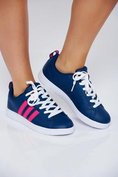 Originals Adidas blue casual sneakers with lace and light sole