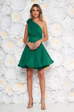 Ana Radu occasional green one shoulder cloche dress