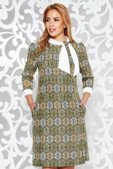 Fofy green a-line daily dress print details