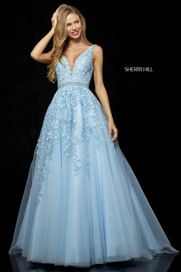 Sherri Hill 11335 LightBlue Dress