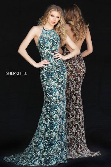 Sherri Hill 51410 Green Dress