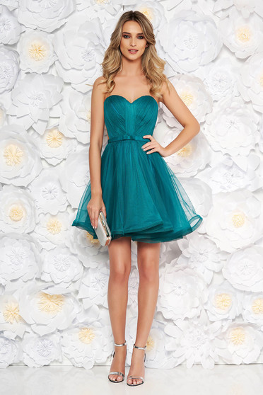 Ana Radu green occasional corset dress with push-up cups