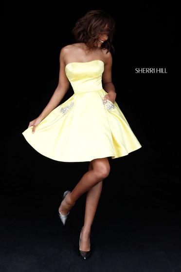 Sherri Hill 51390 Yellow Dress