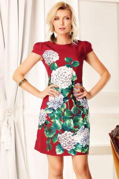 Easy cut Fofy burgundy elegant daily dress