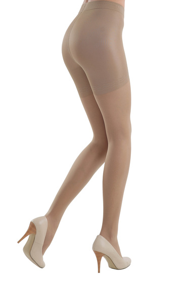 Nude 20 den modeller women`s tights with pressure-free border