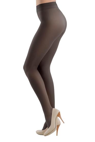 Black 20 den pressure-free border women`s tights shiny fabric