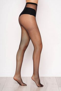 Black net stockings women`s tights elastic fabric