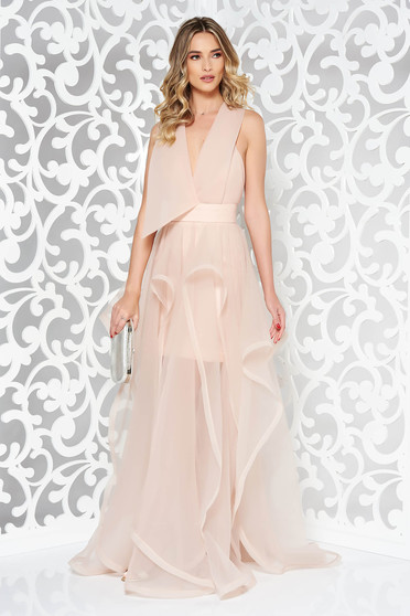 Ana Radu rosa cut back occasional dress