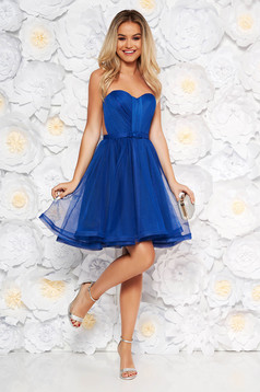 Ana Radu blue occasional corset dress with push-up cups