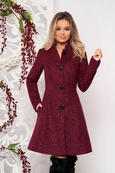 Artista purple elegant coat from non elastic fabric with inside lining