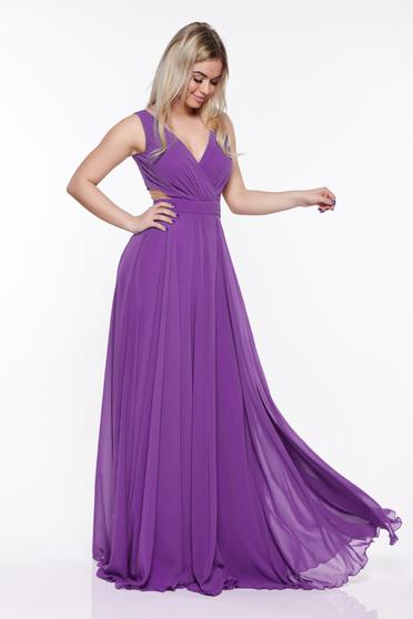 Occasional Fofy purple dress with push-up cups cloche