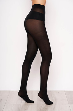 Black 250 den women`s tights with 3d effect not reinforced toe