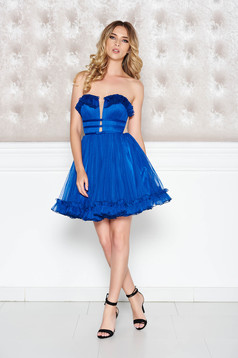 Ana Radu blue occasional from tulle dress bow accessory