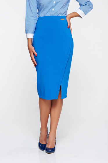 LaDonna office with inside lining blue skirt slightly elastic fabric