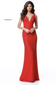 Sherri Hill 51641 Red Dress