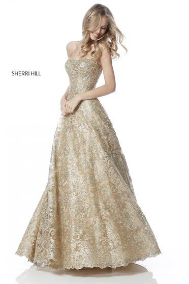 Sherri Hill 51572 Gold Dress