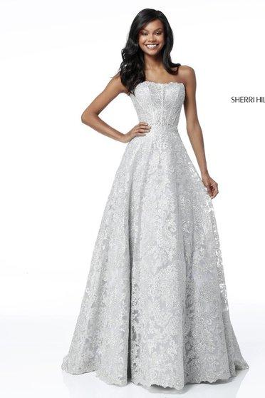 Sherri Hill 51572 Silver Dress