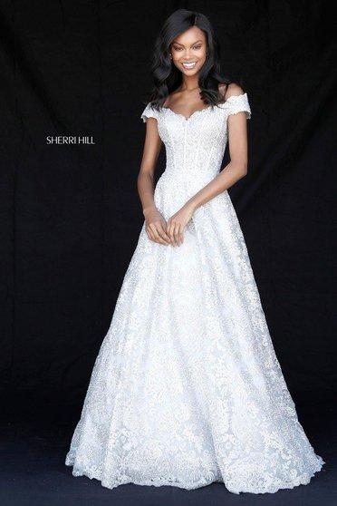 Sherri Hill 51573 Silver Dress