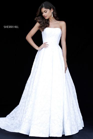 Sherri Hill 51623 White Dress
