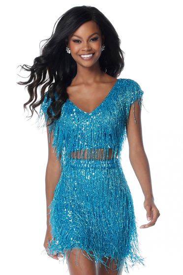 Sherri Hill 51781 Turquoise Dress
