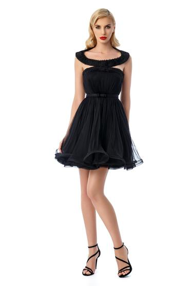 Ana Radu black dress with inside lining from tulle cloche luxurious