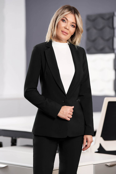 StarShinerS black jacket with inside lining office from non elastic fabric arched cut