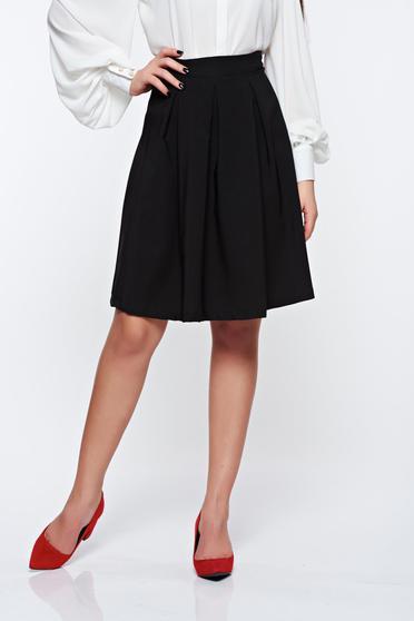 Artista black skirt office midi cloche slightly elastic fabric