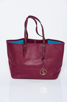 Burgundy bag from ecological leather office
